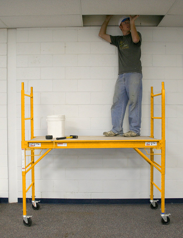 Indoor Scaffolding Platform : Scaffolding ft lbs build master tools