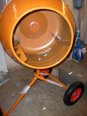 Concrete Mixer Cement Mixer 8 Cu Ft Tri Stand Rotary